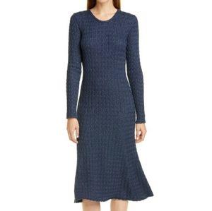 Mansur Gavriel Cable Alpaca Silk Sweater Dress